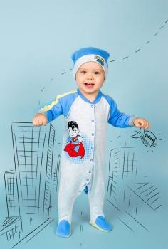 детская одежда оптом Комплект (комбинезон и шапка)
